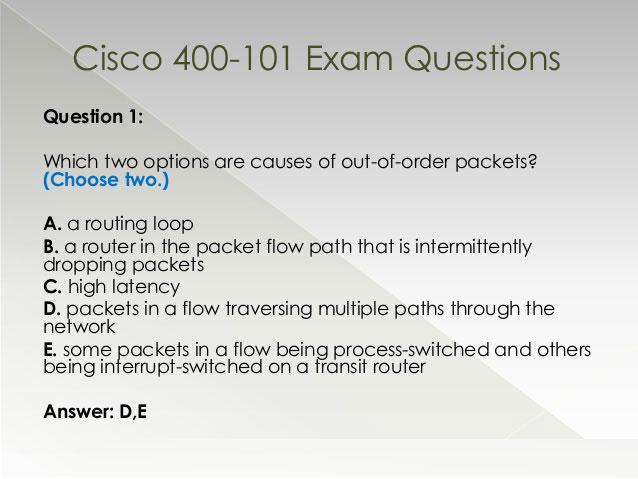 Free Cisco 400-101 Exam Download for YOU